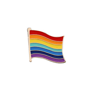 RAINBOW FLAG Pin | Kitsch Kandy Clothing - Tomboy Styles