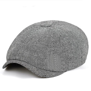 Herringbone Flat Cap | Kitsch Kandy Clothing - Tomboy Styles