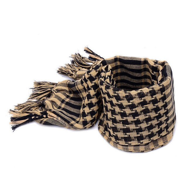 Checked Scarf, Sand