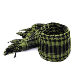 Checked Scarf, Green