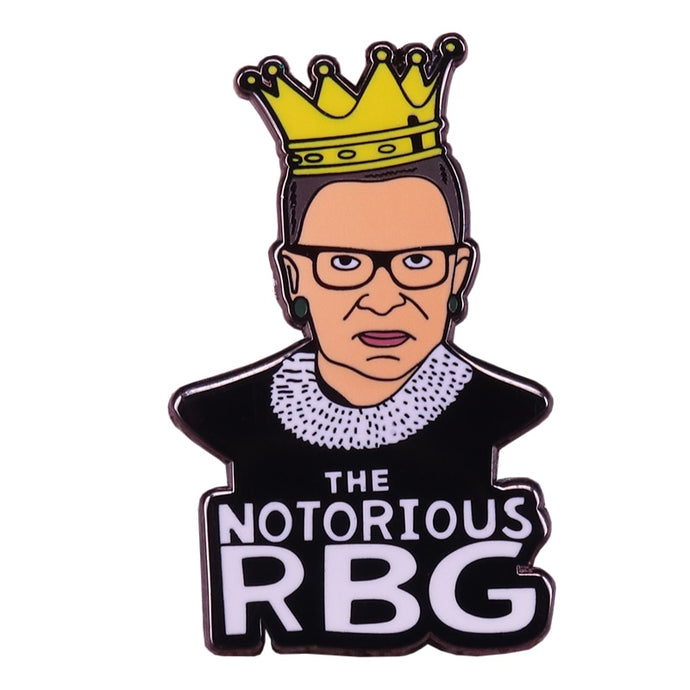The Notorious RBG Pin | Kitsch Kandy Clothing - Tomboy Styles