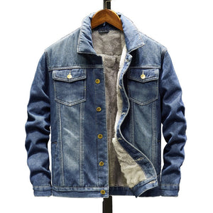 Lined Trucker Denim Jacket, Blue | Kitsch Kandy Clothing - Tomboy Styles