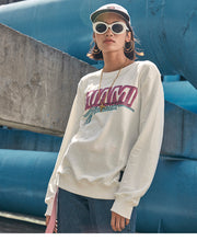 Miami Sweatshirt | Kitsch Kandy Clothing - Tomboy Styles