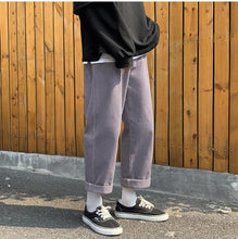 Corduroy Wide Leg Trousers, Light Purple | Kitsch Kandy Clothing - Tomboy Styles