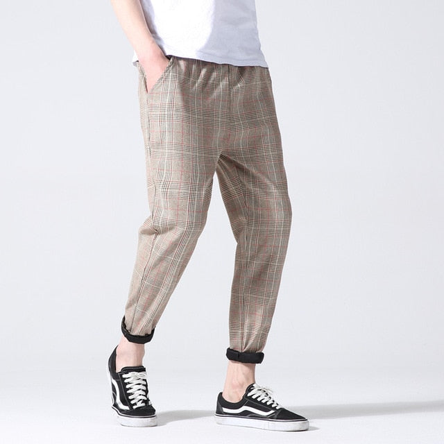Plaid Trousers, Brown | Kitsch Kandy Clothing - Tomboy Styles