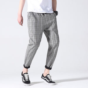 Plaid Trousers, Grey | Kitsch Kandy Clothing - Tomboy Styles