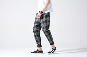 Plaid Trousers, Black | Kitsch Kandy Clothing - Tomboy Styles