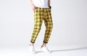 Plaid Trousers, Yellow | Kitsch Kandy Clothing - Tomboy Styles