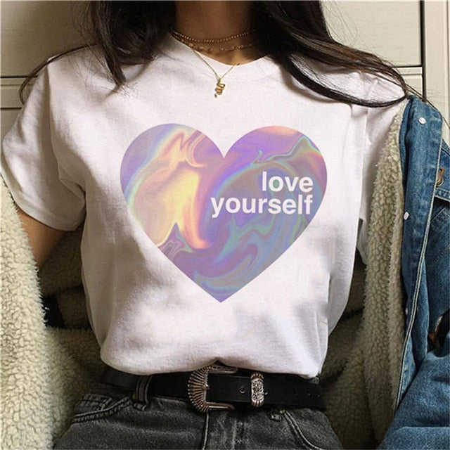 LOVE YOURSELF T-Shirt | Kitsch Kandy Clothing - Tomboy Styles