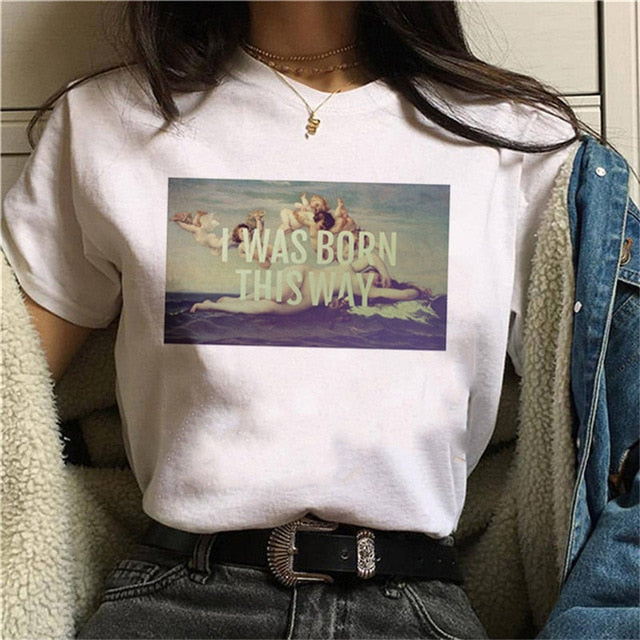 BORN THIS WAY T-Shirt | Kitsch Kandy Clothing - Tomboy Styles