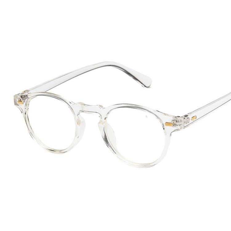 Vintage Rounded Sunglasses, Clear | Kitsch Kandy Clothing - Tomboy Styles