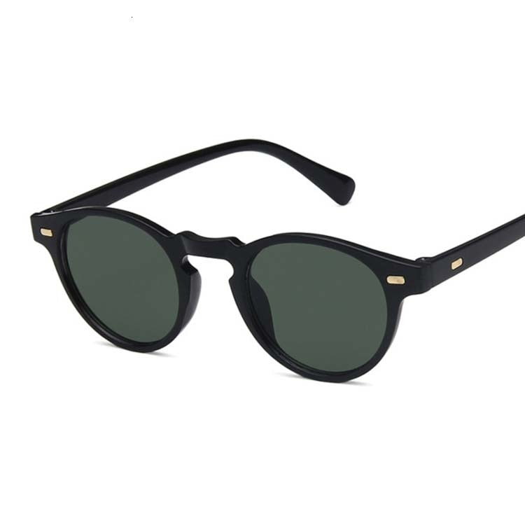 Vintage Rounded Sunglasses, Black | Kitsch Kandy Clothing - Tomboy Styles