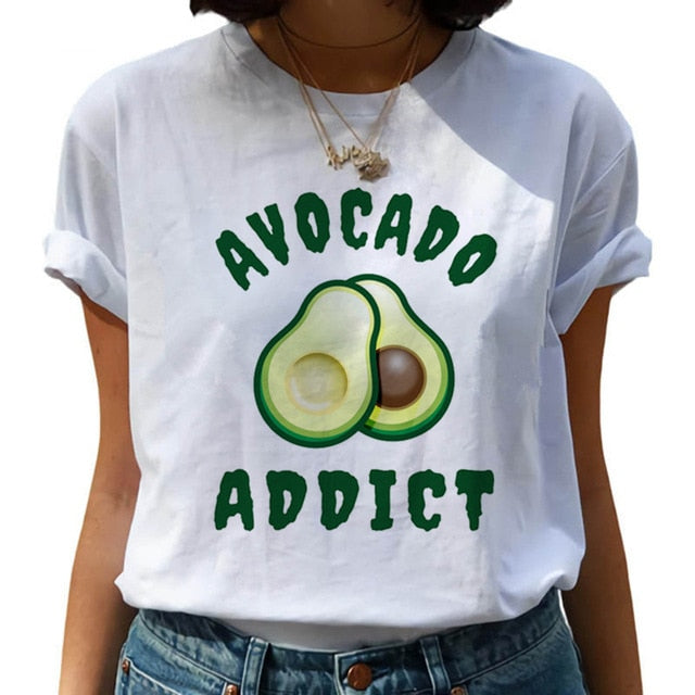 Avocado Addict T-Shirt | Kitsch Kandy Clothing - Tomboy Styles
