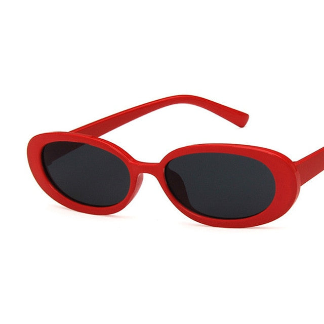 Oval Sunglasses, Red | Kitsch Kandy Clothing - Tomboy Styles