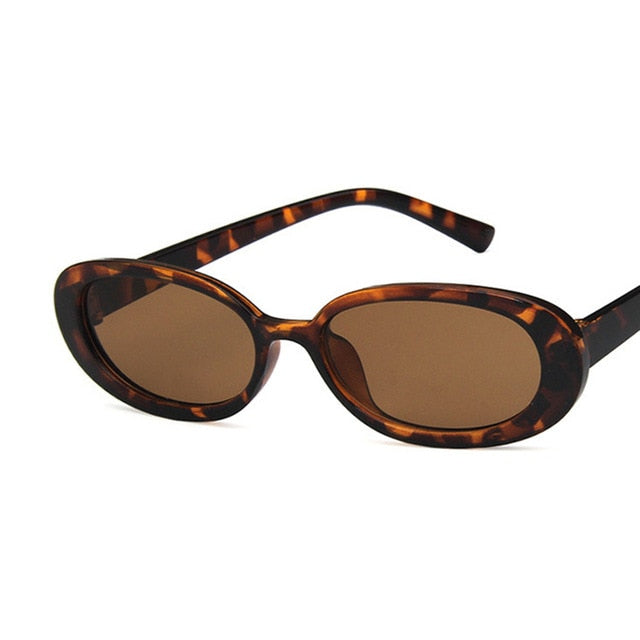 Oval Sunglasses, Brown | Kitsch Kandy Clothing - Tomboy Styles