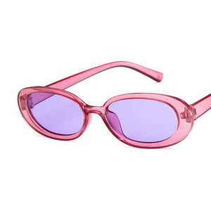 Oval Sunglasses, Purple - Kitsch Kandy Clothing