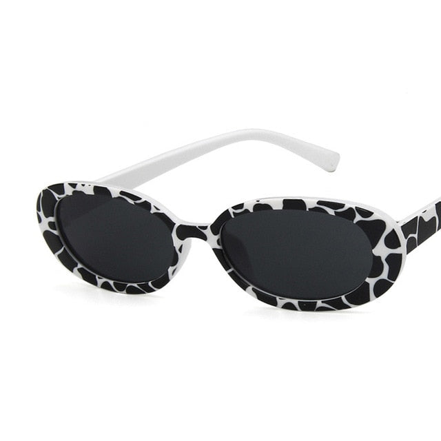 Oval Sunglasses, Leopard Print | Kitsch Kandy Clothing - Tomboy Styles