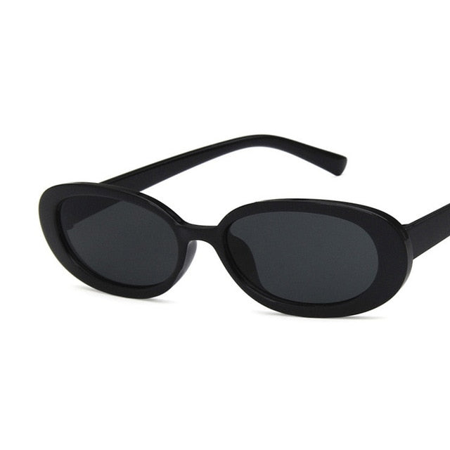 Oval Sunglasses, Black | Kitsch Kandy Clothing - Tomboy Styles