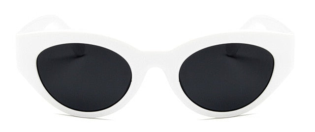 Oversized Sunglasses, White - Kitsch Kandy Clothing