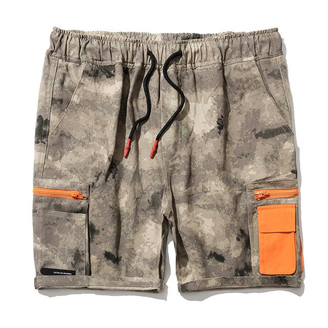 PAD Cargo Shorts, Sand Camo | Kitsch Kandy Clothing - Tomboy Styles