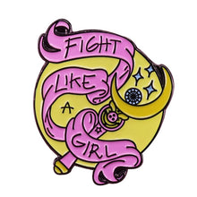 Fight Like A Girl Pin | Kitsch Kandy Clothing - Tomboy Styles