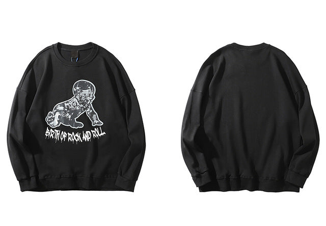 Birth of Rock & Roll Sweatshirts | Kitsch Kandy Clothing - Tomboy Styles