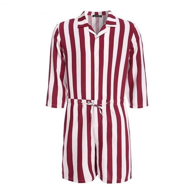 Striped Jumpsuit, Red - Kitsch Kandy Clothing