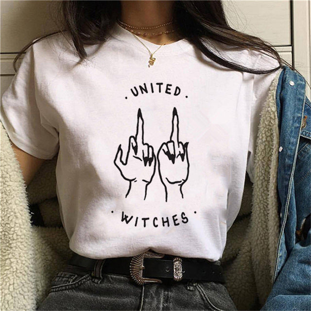 UNITED WITCHES T-Shirt | Kitsch Kandy Clothing - Tomboy Styles
