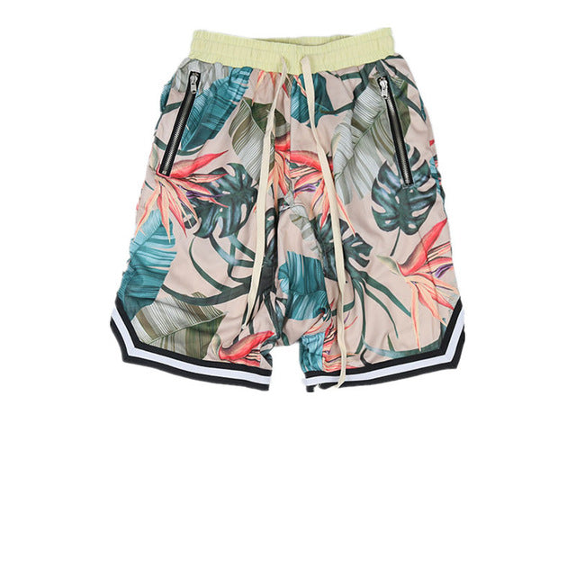 Floral Print Shorts, Beige | Kitsch Kandy Clothing - Tomboy Styles