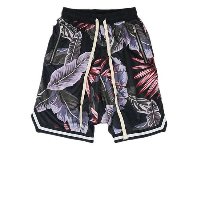 Floral Print Shorts, Black | Kitsch Kandy Clothing - Tomboy Styles