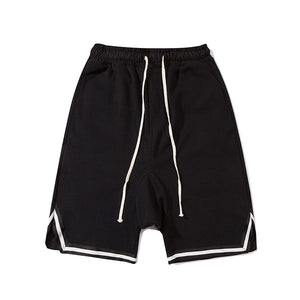 Baggy Drawstring Shorts, Black | Kitsch Kandy Clothing - Tomboy Styles
