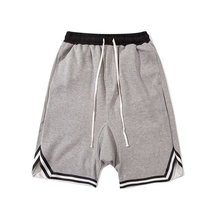 Baggy Drawstring Shorts, Grey | Kitsch Kandy Clothing - Tomboy Styles