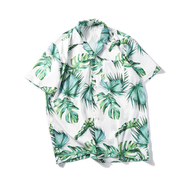 Tropical Printed Shirt | Kitsch Kandy Clothing - Tomboy Styles