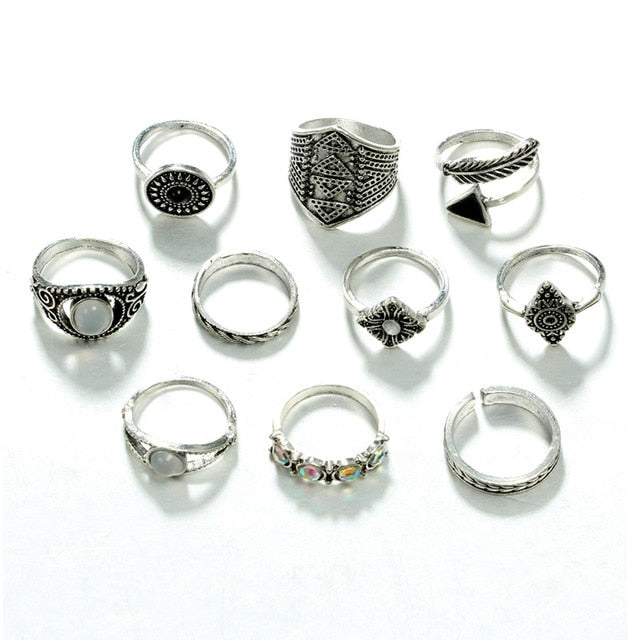10 Pack of Antique Rings.