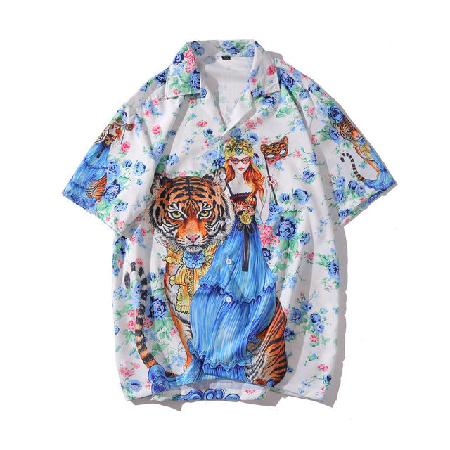 Tiger Child Printed Shirt | Kitsch Kandy Clothing - Tomboy Styles