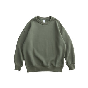 Army Green Plain Sweatshirt.