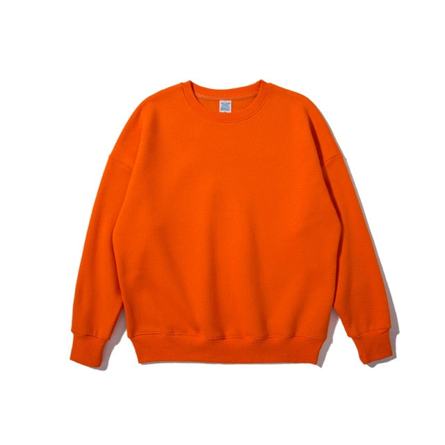 Orange Plain Sweatshirt