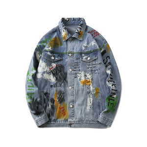 WTD Print Denim Jacket.