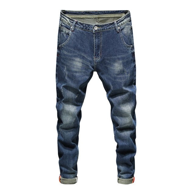 Faded Stretch Fit Jeans
