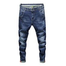 Faded Stretch Bicker Fit Jeans Mid Blue