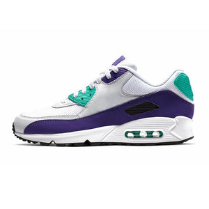 Running Trainer in White w/ Purple & Mint Trim.