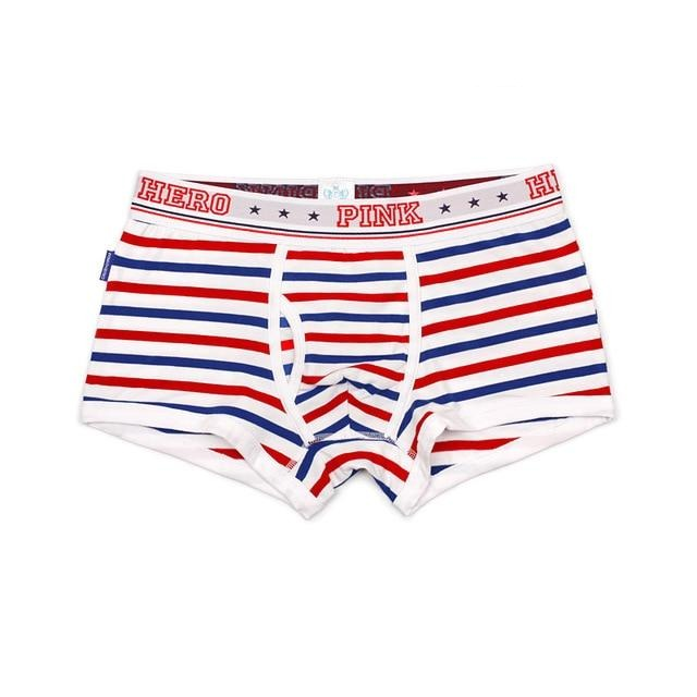 STRIPED Pink Hero Boxers - Kitsch Kandy Clothing