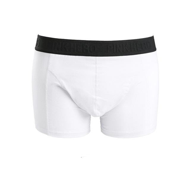 WHITE Pink Hero Boxers | Kitsch Kandy Clothing - Tomboy Styles