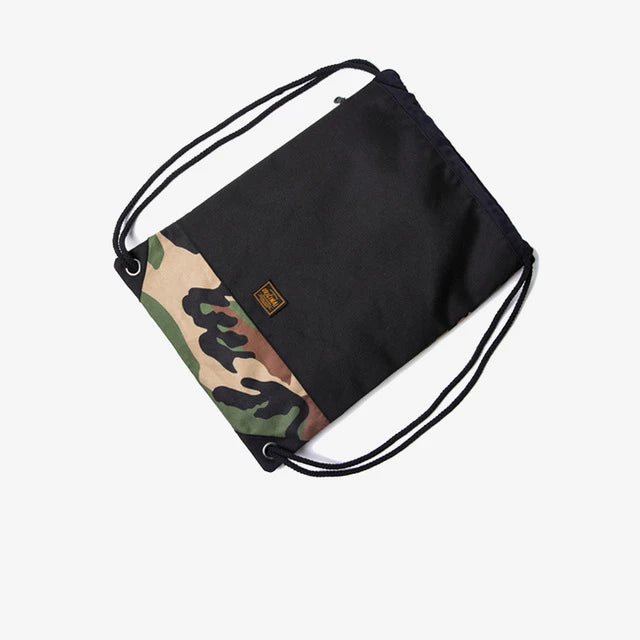 Camo Drawstring Backpack by INFLATION | Kitsch Kandy Clothing - Tomboy Styles