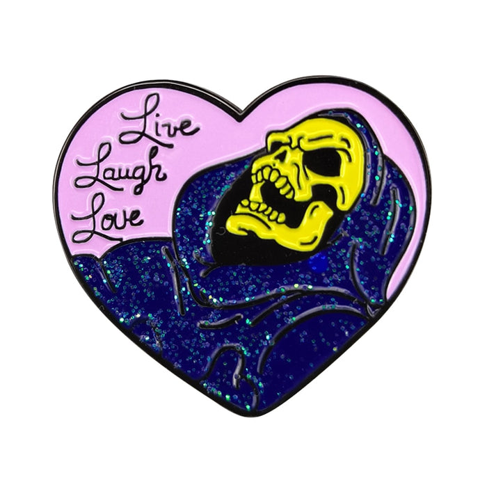 Skeletor Pin | Kitsch Kandy Clothing - Tomboy Styles