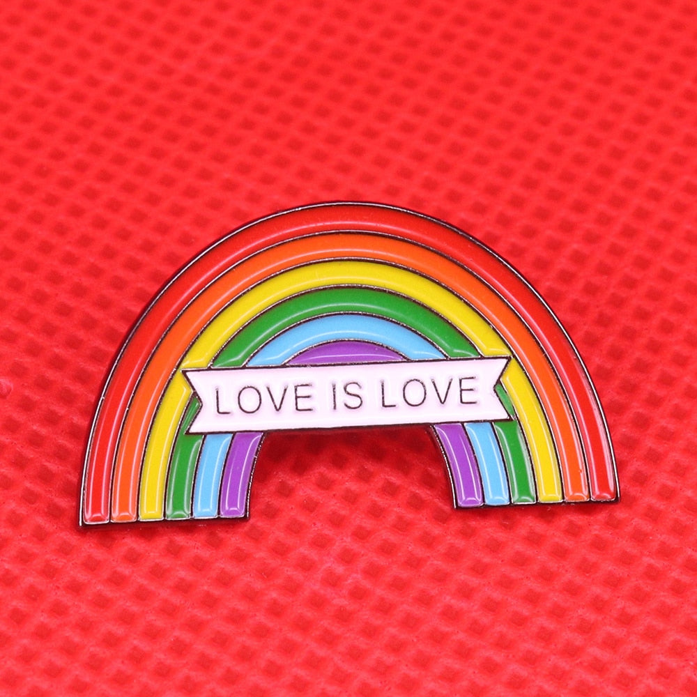 Love is Love Pin | Kitsch Kandy Clothing - Tomboy Styles