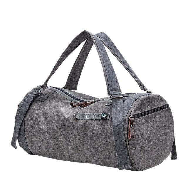 Canvas Holdall Bag, Grey | Kitsch Kandy Clothing - Tomboy Styles