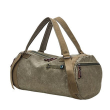 Canvas Holdall Bag, Army Green | Kitsch Kandy Clothing - Tomboy Styles