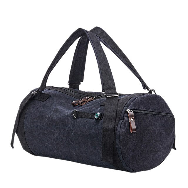 Canvas Holdall Bag, Black | Kitsch Kandy Clothing - Tomboy Styles