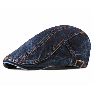 Denim Flat Cap | Kitsch Kandy Clothing - Tomboy Styles